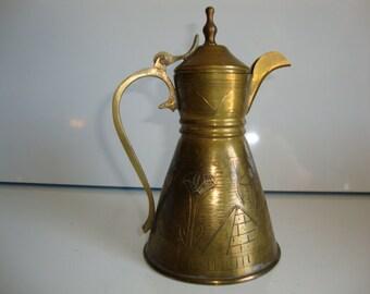 Vintage Brass Teapot Small