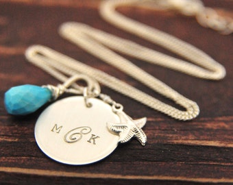 Custom Monogram Personalized Necklace, Mothers Day Gift Ideas, Thank You Gifts for Bridesmaids, Monogram Gifts
