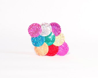 Rainbow Mermaid Fascinator Hair Clip Sparkle Fish Scales - Made in Brooklyn