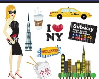 INSTANT DOWNLOAD New York 1 Clip art -Personal and Commercial Use-