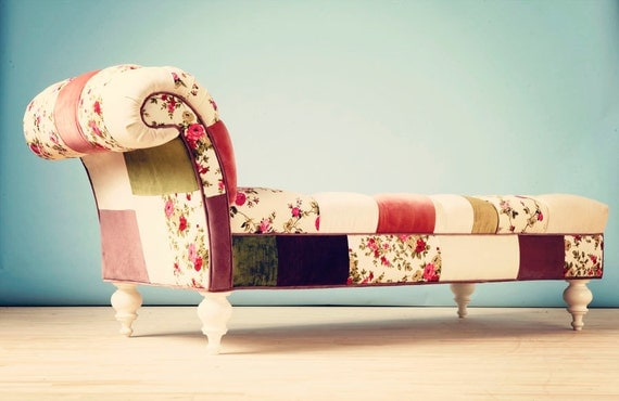 Josephine patchwork chaise lounge for Chaise longue patchwork