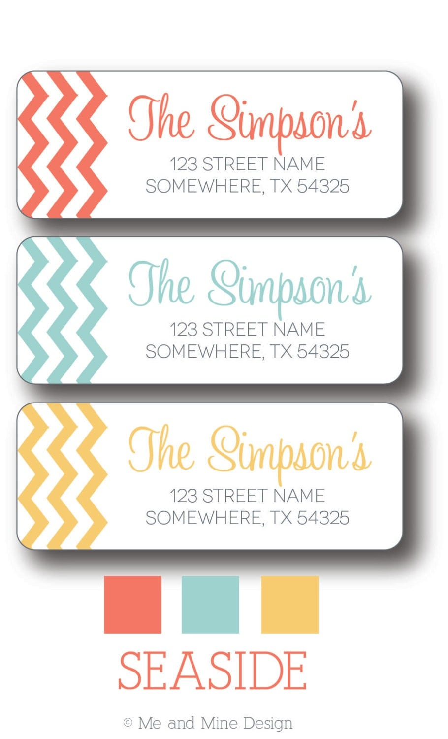 chevron return address labels by meandminedesign on etsy With address labels near me