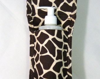 Made To Order - Giraffe Single Massage Oil Holster with Belt