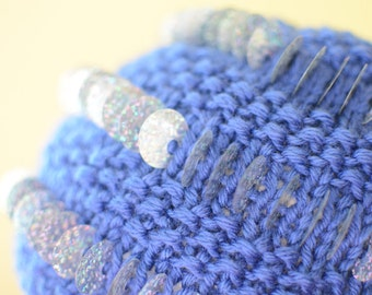 Blue Sequined Hat