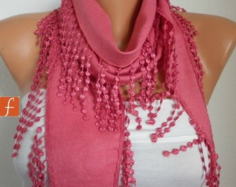 Amaranth Pashmina Scarf, Necklace, Summer Scarf,Teacher Gift Cotton Scarf Cowl Gift Ideas For Her Women Fashion Accessories