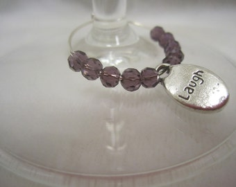 SALE!! Swarovski Wine Charms (6) - Inspirational theme