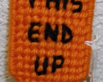 1889 The End Up Sign Pencil Topper
