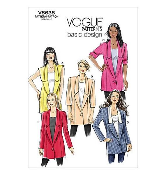 Vogue Pattern V8638 Boyfriend Jacket