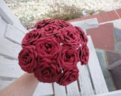 Red Roses Wedding - Dozen Paper Roses   Paper  Flowers Valentine's Day Anniversary