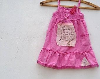Sherbet berry spring party rose Pink rustic sundress smocked nursery rhyme duck handmade rose sweet toddler