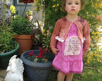 SALE Sherbet berry spring party rose Pink rustic sundress smocked nursery rhyme duck handmade rose sweet toddler