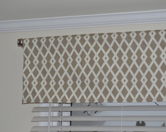 "Custom Valance, 52"" wide and 13"" tall,"