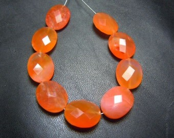 Red Carnelian Briolette Faceted Oval Beads AAA Quality 9 Pc  Size 11x14MM Wholesale Price