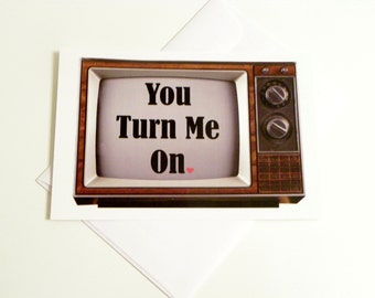 Funny Adult Love Card You Turn Me On Funny Valentines Day Card