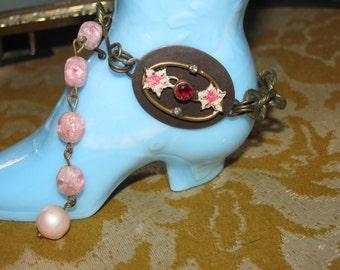 Pretty Pink Recycled Bracelet