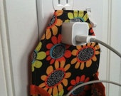 iPhone 6, 6 Plus, 5S, 5C, 4. 4S iPod touch Hanging Charging Station in orange, green, black and blue flowers