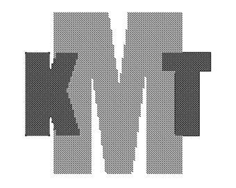 Monogram for Him Cross Stitch Pattern, Simple Monogram Cross Stitch Pattern, Needlepoint Monogram Pattern, Needlepoint Pattern