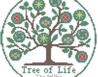 Tree of Life Cross Stitch Pattern/Tree of Life/Cross Stitch Pattern/Tree Cross Stitch Pattern/Family CrossStitch/Modern Cross Stitch Pattern
