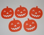 30 Large Jack O' Lantern Pumpkin paper punches Embellishments Die Cuts