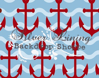 NEW Item 5ft x 6ft Vinyl Photography Backdrop / Anchored Down Red