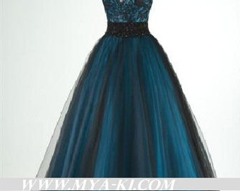 Spagheti strap A Line ball gown formal prom bridesmaid dress/gown