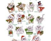 Kitty Kitty Christmas Embroidery Design Collection - CD