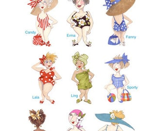 Bathing Beauties Embroidery Design Collection - CD