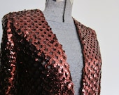 COPPER sequin Jacket, 1970s small