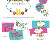 Pretty Floral Easter Printables Complete Collection