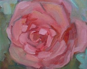 """New """"Pink Blossom"""" 6"""" x 6"""" oil on stretched linen"""