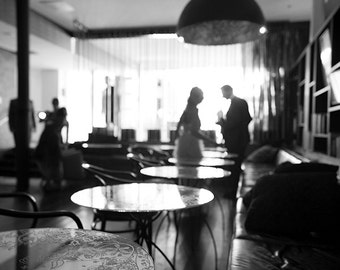 black and white romantic figures fine art photography couple in love wall decor cafe bar kitchen