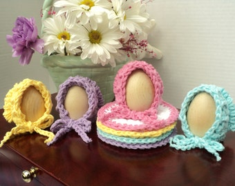 Hostess/Baby Shower Sunbonnet Cozies and Coasters - CROCHET PATTERN ONLY--