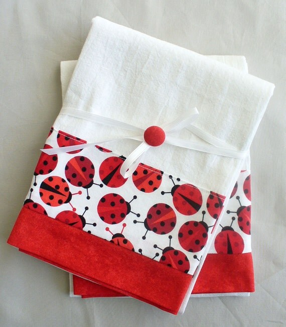 Red Kitchen Towels: Kitchen Towels Lady Bug In Red And Black By