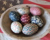 Primitive Americana Egg Bowl Fillers Americana Folk Art