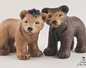 Bear Love Wedding Cake Topper