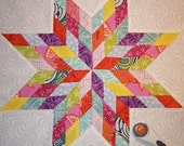 Block of Month Quilt Sampler Pattern ~ Scrappy Lone Star