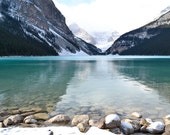 Lake Louise Photography Print 11x14 Fine Art Banff Canadian Rockies Winter Aqua Landscape Photography Print.