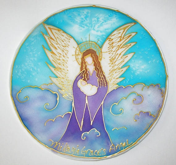 Angel mandala art spiritual giftbaby shower gift angel art for Spiritual shower