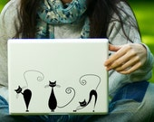Three Cute Cats Decal Laptop Decal iPad