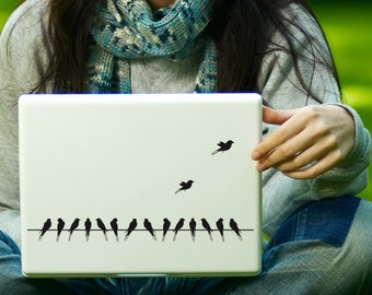 Birds on a Wire Sticker Decal Laptop Decal iPad