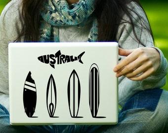 Australia Surfboards Surfing Sticker Decal Laptop Decal iPad