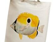 Vintage Fish 02 Eco Friendly Canvas Tote Bag (isl047)