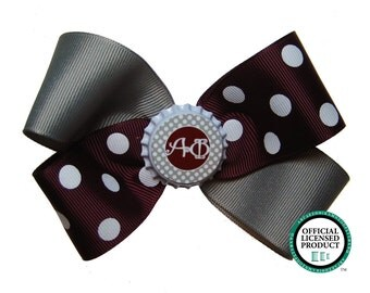 Large Alpha Phi Sorority Hair Bow