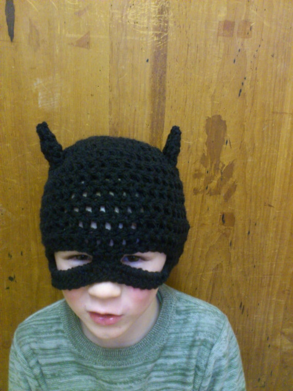 Crochet Pattern Batman Hat : Batman Hat Crochet Pattern by steelandstitch on Etsy