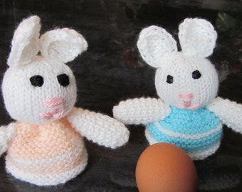 Two Hand Knitted Bunny Egg Cosy/Crochet Easter Bunny /Easter Egg Warmer/Easter Egg Hat /Amigurumi  Doll/Toy