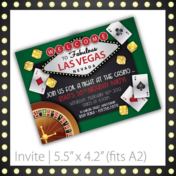 casino party invitations lucky draw by blackcherryprintable. Black Bedroom Furniture Sets. Home Design Ideas