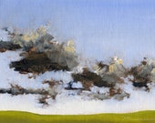 Plains Day — Original Oil Painting Landscape Painting by John W. Shanabrook, 5 x 7