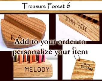Personalize your item - Hand engrave Initails, Name, or Message (up to 10 Characters)