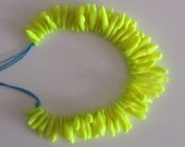 neon fluoro electric acid yellow pop coral-shaped polymer clay beaded necklace