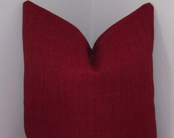"Cinnamon Belgium Basketweave Pillow Cover 18""x18"" - Decorative Pillow Cover - Invivisible Zipper"